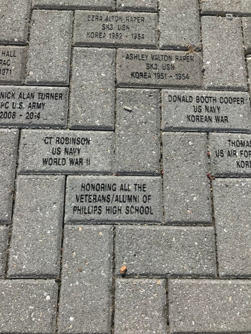 A VETERANS' MEMORIAL BRICK BRICK PLACED AT THE VETERANS' MEMORIAL AT JACK LANGLEY PARK ROCKY MOUNT, NC